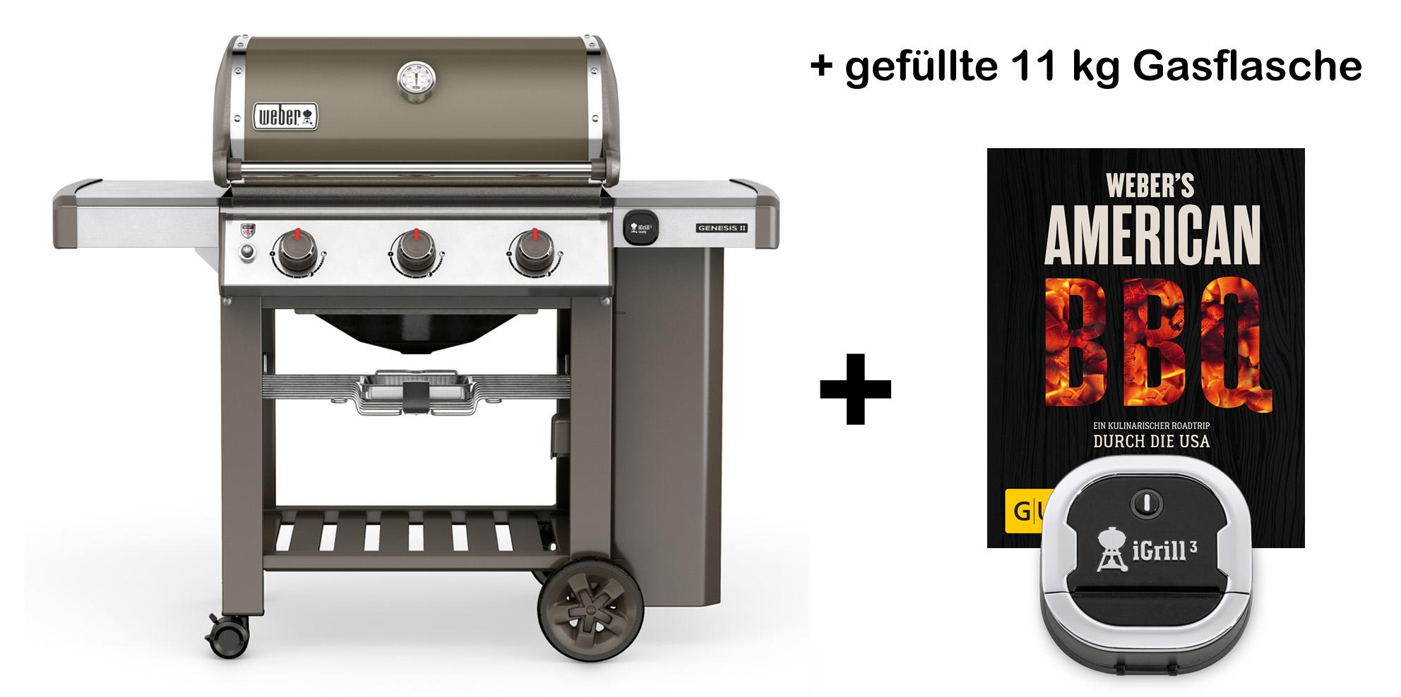 weber genesis ii e 310 2018 gbs gasgrill smoke grey inkl. Black Bedroom Furniture Sets. Home Design Ideas
